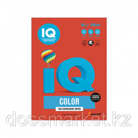 Бумага IQ Color Intensive, А4, 80 г/м2, 500 листов, кораллово-красная