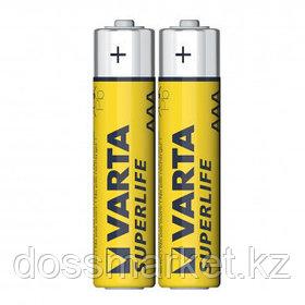 Батарейки Varta SUPERLIFE Micro мизинчиковые AAA R03P, 1.5V, 2 шт./уп, цена за упаковку, в пленке