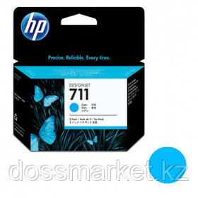 Картридж оригинальный HP CZ130A №711 для DesignJet T120/T520, голубой