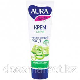 """Крем для рук Aura """"Beauty"""", увлажняющий с глицерином и экстрактом алоэ, 75 мл"""