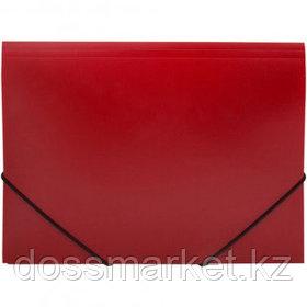 Папка OfficeSpace, А4 формат, 500 мкм, на резинке, красная