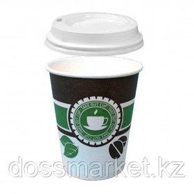 """Стакан бумажный одноразовый """"Take out cup"""" с крышкой, 250 мл, цена за штуку"""