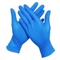 Перчатки нитриловые, нестерильные, размер L, синие, 300 шт/упак