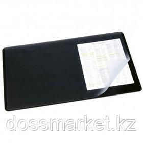 Настольное покрытие Durable, 40*53 см, прямоугольное, прозрачный верхний слой, черное