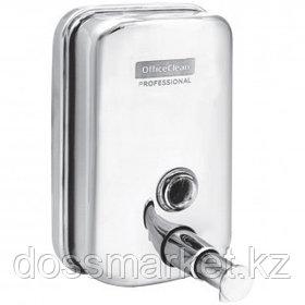 Диспенсер для жидкого мыла OfficeClean Professional, нержавеющая сталь, механический, 500 мл, хром