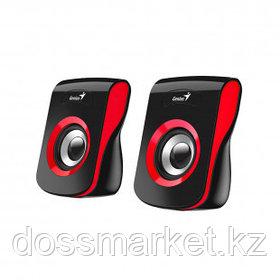 Акустическая система Genius SP-Q180, 6 Вт, MiniJack 3.5, USB, черно-красная