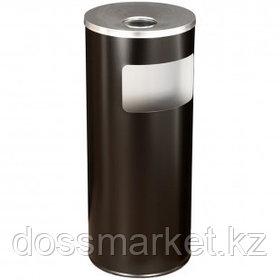"""Урна металлическая """"Титан"""" с емкостью для пепла, 250*250*602 мм, 30 л, черная"""