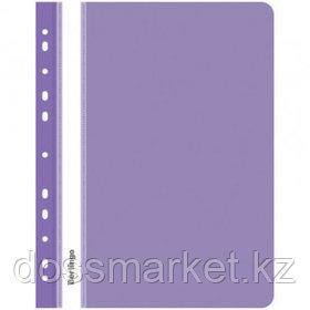 Папка-скоросшиватель Berlingo, А4 формат, 180 мкм, фиолетовая, с перфорацией
