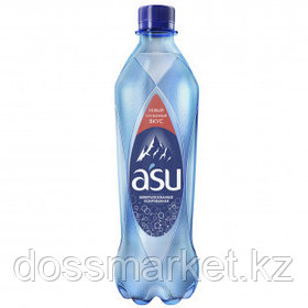 """Вода газированная питьевая """"ASU"""", 0,5 л"""