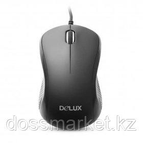 Мышь проводная оптическая Delux DLM-391OUB, USB, 3 кнопки, 1000 dpi, черная