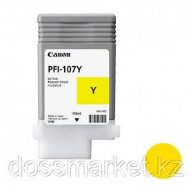 Тонер оригинальный Canon PFI-107Y для imagePROGRAF-iPF670/680/685/770/780/785, желтый, 130 мл