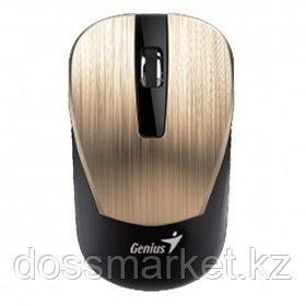 Мышь беспроводная Genius NX-7015, USB, 3 кнопки, 800-1600 dpi, оптическая, золотая