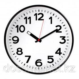 Часы круглые Troyka, d=30 см, черные, пластиковые