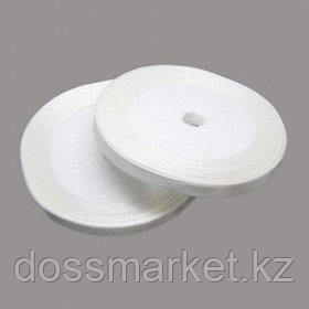 Лента атласная для прошивки документов, белая, 27 м, ширина 5 мм