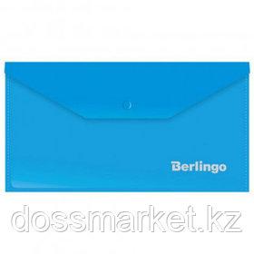 Папка-конверт с кнопкой Berlingo, С6, 180 мкм, синяя