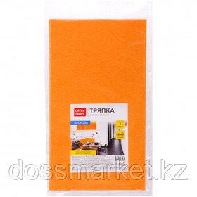 Салфетка для пола OfficeClean, вискоза, размер 50*60 см, оранжевая