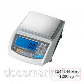 Весы лабораторные CAS МWP-1200N, электронные, максимальная нагрузка 1200 гр