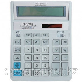 Калькулятор настольный Citizen SDC-888XWH, 12 разрядов, 203*158*31 мм