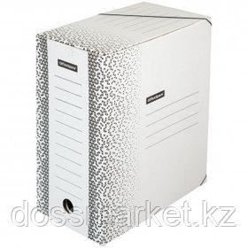 """Папка архивная OfficeSpace """"Standard"""", 150*260*320 мм, вместимость 1400 листов, на резинках, белая"""