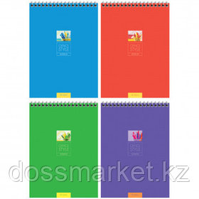 "Блокнот ArtSpace ""Моноколор. Office style"", А5, 40 листов, на гребне, в клетку"