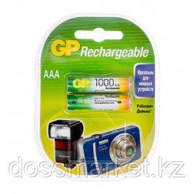 Аккумулятор GP 100AAAHC, мизинчиковые АAA, Ni-MH, 1000 mAh, 1.2V, 2 шт, цена за упаковку