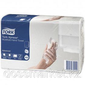 Полотенца бумажные Tork Advanced, 190 шт., 2-х слойные, 21,3*23,4 см, Multifold, белые