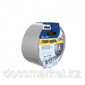 Клейкая супер-лента армированная Unibob, ширина ленты 50 мм, длина намотки 25 м, серая