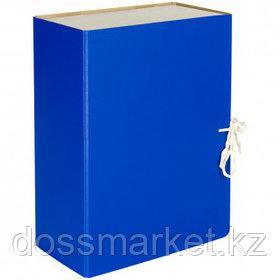 Архивный короб OfficeSpace, 130*240*320 мм, вместимость 1000 листов, с завязками, сплошной, ассорти