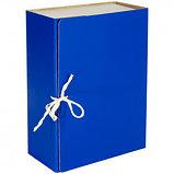 Архивный короб OfficeSpace, 130*240*320 мм, вместимость 1000 листов, с завязками, сплошной, ассорти, фото 2