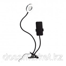 Светильник настольный кольцевой Artstyle TL-604B, 12 Вт, LED, диммирование 10 уровней, гибкая стойка