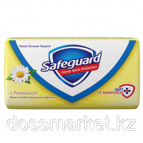 """Мыло туалетное Safeguard """"Ромашка"""", антибактериальное, 90 гр"""