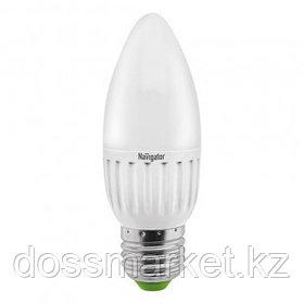 Лампа светодиодная Navigator NLL-C, 5 Вт, 2700К, теплый белый свет, E27, форма свеча