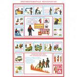 """Плакат по ТБ """"Противопожарные мероприятия"""", размер 400*600 мм, комплект из 2-х плакатов, фото 2"""