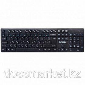 Клавиатура беспроводная Delux DLK-150GB, 12 дополнительных клавиш, черная