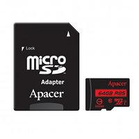 "Карта памяти 64 Gb, Apacer ""AP64GMCSX10U5-R"", micro SDXC, 10 U1 класс скорости, с адаптером"