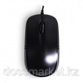 Мышь проводная оптическая Delux DLM-136OUB, USB, 3 кнопки, 1000 dpi, черная