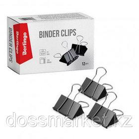 Зажимы для бумаг Berlingo, 51 мм, 12 шт., черные