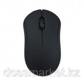 Мышь проводная оптическая Ritmix ROM-111, USB, 3 кнопки, 1000 dpi, черная