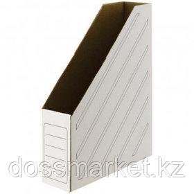 Накопитель-лоток архивный из микрогофрокартона OfficeSpace, вместимость 700 листов, 75 мм, белый