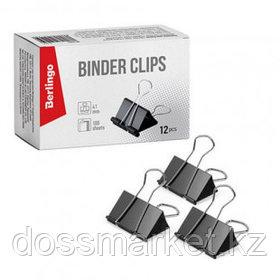 Зажимы для бумаг Berlingo, 41 мм, 12 шт., черные