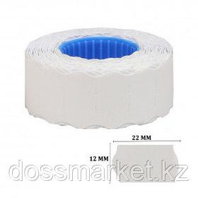 Этикет-ценник OfficeSpace, волнистые, 22 мм*12 мм, 800 шт. в рулоне, белый