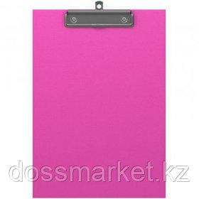 Планшет А4 формата Erich Krause Neon, с верхним прижимом, розовый