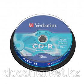 Диск CD-R Verbatim, 700 Mb, 52х, 10 шт/упак