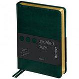 """Ежедневник недатированный Berlingo """"xGold"""", А6, 160 л., кожзам, золотой срез, зеленый, фото 2"""