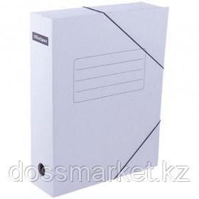 Папка архивная OfficeSpace, 75*250*320 мм, вместимость 700 листов, на резинках, белая