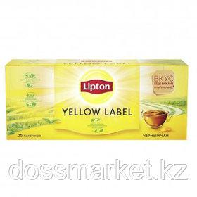 Чай Lipton Yellow Label, черный, 25 пакетиков