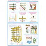 """Плакат по ТБ """"Безопасность работ на высоте"""", размер 400*600 мм, комплект из 4-х плакатов, фото 3"""