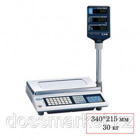 Весы торговые со стойкой CAS AP-30 EX(0.9T), электронные, максимальная нагрузка 30 кг