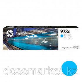 Картридж оригинальный HP 973X (F6T81AE) для PageWide Pro 477/452, голубой