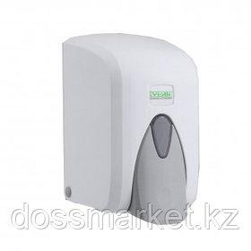 """Диспенсер для жидкого мыла """"Vialli"""", пластик, 500 мл, белый, с помпой (S5)"""